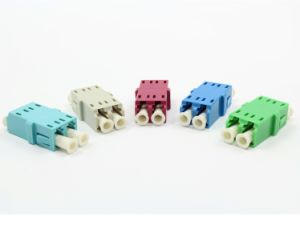 LC Integrated Duplex Fiber Optic Adapter Without Flange pictures & photos