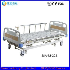 China Factory Hot Sale Cost Manual Double Shake Hospital Bed pictures & photos