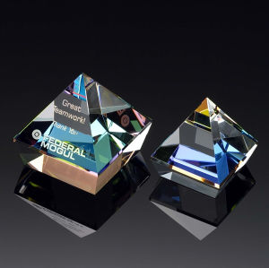 Prism Double Pyramid Paperweight (#50681, #50682) pictures & photos