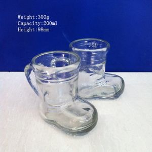 Shoes Shaped Mason Jar Glasses with Handle