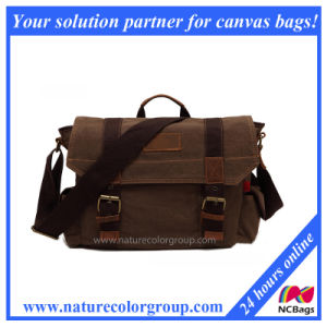 Canvas Hiking Traveling Sports Satchel Messenger Bag (MSB-007) pictures & photos