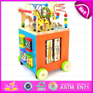 2015 Wooden Multifunction Baby Walkers Toy, Wooden Stroller Baby Walker, Educational Wooden Baby Walker with Alphabet Rack W16e040 pictures & photos
