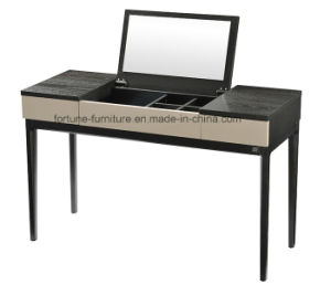 Modern Solid Wood Feet Dressing Table with Mirror and Jewelry Box (I&D-N10583) pictures & photos