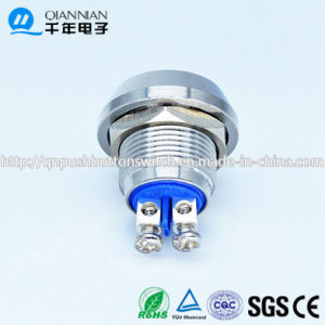 12mm Domed Head Momentary (NO) Nickel Plated Brass Piezo Push Button Switch pictures & photos