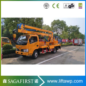 8m to 16m Hydraulic Electric Truck Mounted Scissor Elevator Platform pictures & photos
