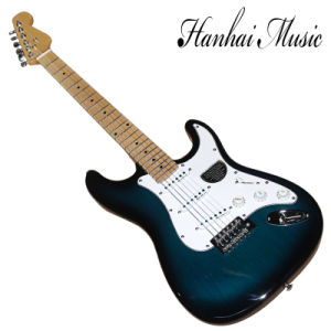 Hanhai Music / Dark Blue St Style Electric Guitar with Maple Neck pictures & photos