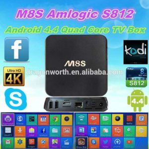 2016 Top Hot! TV Box - M8s Quad Core Android 4.4 Amlogic S812 2.0 GHz Preinstall Kodi (XBMC) , Support HD 1080P, H. 265 Android 5.1 M8s+ pictures & photos