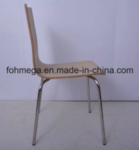 Durable Bentwood Fast Food Restaurant Chair with Ss Leg (FOH-NCP14) pictures & photos
