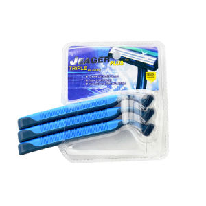 Triple Blade Stainless Steel Disposable Razor for Man pictures & photos