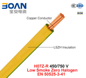 H07z-R, Electric Wire, 450/750 V, Cu/Lszh (LS0H) Cable (EN 50525-3-41) pictures & photos