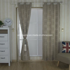 Well Sell Jacquaed Flower Pattern Curtain Wzq162-4 pictures & photos