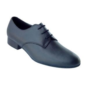 Black Leather Men′s Tango/Ballroom Dance Shoes pictures & photos