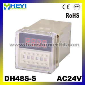 Digital Timer Relay Dh48s-S with Socket pictures & photos