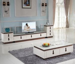 Modern TV Cabinet and Tea Table Set pictures & photos