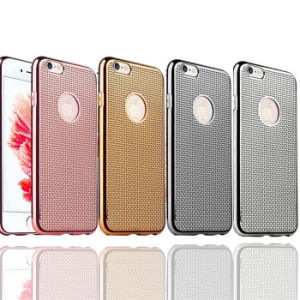 Electroplating Soft TPU Case Weave Grid Phone Case for iPhone 7 Case (XSDD-007)