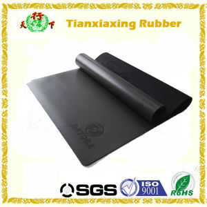 Branded Logo PU Leather Rubber Yoga Mat
