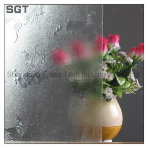Float Clear Ecid Etched Patterned Glass pictures & photos