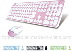 Round Cap Wireless Keyboard Mouse Suits Laptop Computer Keyboard pictures & photos