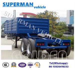 2axle Flabed Utility Superlink Cargo Truck Semi Trailer with Fifthwheel pictures & photos