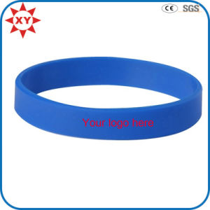 Custom Logo Blue Silicone Wristband pictures & photos