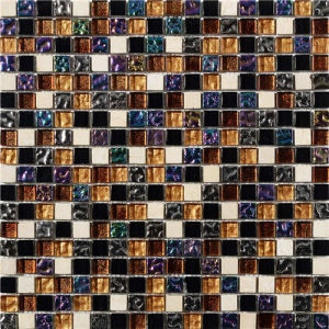 15*15 Ice Crackle Glass Mosaic / Mix Marble Stone Mosaic pictures & photos