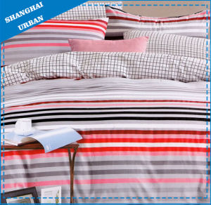 100%Cotton Stripe 500tc Home Bedding Fitted Sheet Set pictures & photos