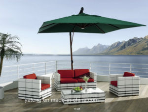 Luxury Leisure Top Quality Us-Resistant PE-Rattan Outdoor Furniture Garden Sofa Set by Single & Double Seat (YT369) pictures & photos