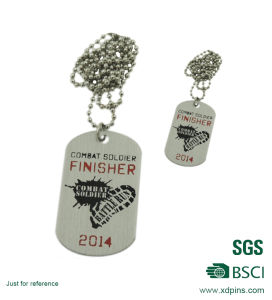 Custom Cheap Stamped Iron Dog Tags with Necklace pictures & photos