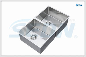 Handmade Double Bowl Stainless Steel Sinks for Kitchen (SB2039A) pictures & photos