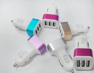 Wholesale 3 USB Port DC 5V 1A-2.1A Auto Mobile Phone Car Charger for iPhone iPad Tablet PC pictures & photos