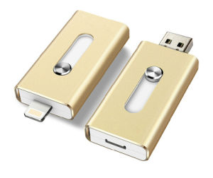 Gold Metal OTG USB Flash Drive for iPhone pictures & photos