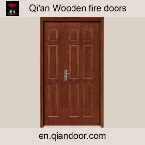 Unequal Double Door Hard Wood Entry Door pictures & photos