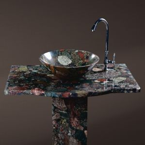 Colorful Marble Round Basin, Wash Basins for Bathroom pictures & photos