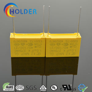Box Type Metallized Polypropylene Safety Capacitor X2 105k/275V P=22.5 E4 RoHS X2-MKP pictures & photos