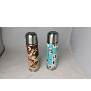 500ml Double-Wall 304 Stainless Steel Bullet Vacuum Flask with Heat-Transfer Logo Printing