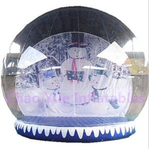 Snowman Backdrop Inflatable Snow Globe for Christmas Decoration pictures & photos