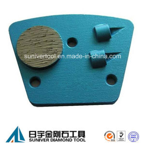 PCD Trapezoid Epoxy Removing Metal Bonded Grinding Disc pictures & photos