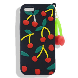 Pendant Cherry Silicone Case for iPhone 7 7plus Huawei Y6II HTC 530 626 for Zte A510 A610 V6plus (XSF-024)