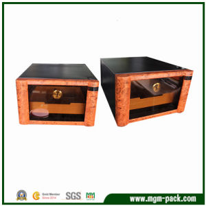 Hot Sale Wooden Display Cigar Box with Humidifier pictures & photos