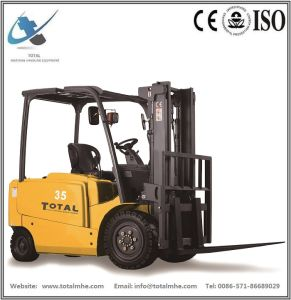 3 Ton 4-Wheel Battery Forklift pictures & photos