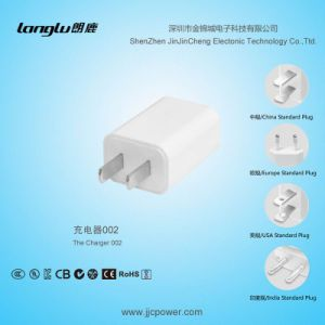 5V/0.5A/2.5W USB Mobile Phone Charger with U. S Standard UL Certificate Plug