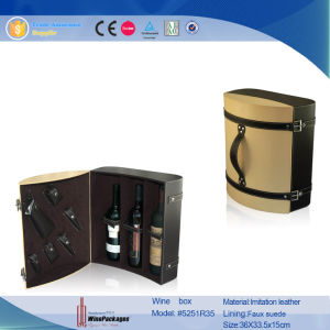 Two Bottles Wine Box with Display Windows (5552R4) pictures & photos