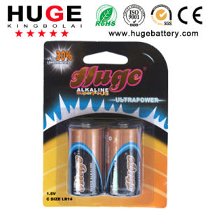 1.5V C Size Aluminum Foil Alkaline Battery (LR14) pictures & photos