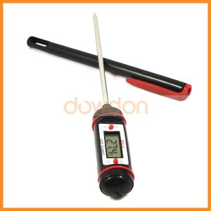 LCD Digital Portable Kitchen Meat BBQ Smoker Oven Cooking Pocket Pen Thermometer with Probe pictures & photos