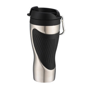 18/8 Double Wall Stainless Steel Travel Mug with Mountaineering Buckle pictures & photos