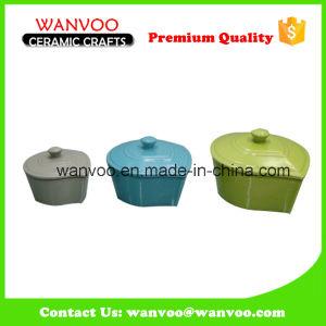 3 Size Design Dishwasher and Microwave Safe Porcelain Bakeware Set pictures & photos