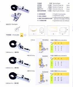 26mm Glass Door Hinge One Way (KEY HOLE) pictures & photos