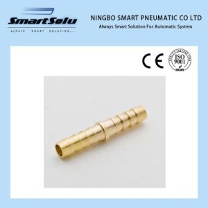 Ningbo Smart Double Clamp Barb Brass 8mm Hose Fittings Connector pictures & photos