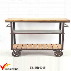 Vintage Industrial Bar Kitchen Serving Table Trolley pictures & photos
