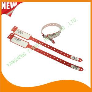 Barcode Hospital Logo Customized Medical ID Wristband Bracelet Bands (8027-2-12) pictures & photos